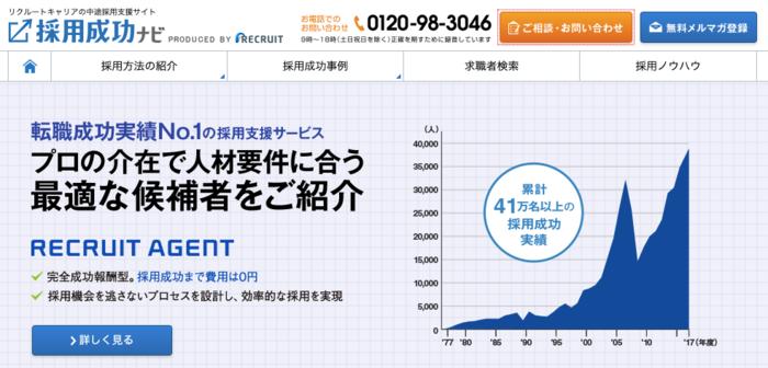 リクナビNEXT(採用成功ナビ)の企業担当者ページのイメージ画像